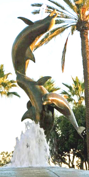 Dolphin Statue Water Foundtion